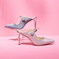 【陈意涵同款】Diana Rose 镂空包头尖头细跟女士高跟凉拖鞋