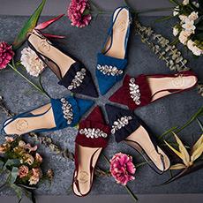 流星的礼物 麂皮带钻高跟鞋