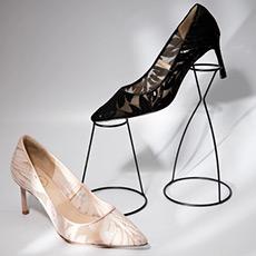 GRACE 蕾丝高跟女士浅口性感亮片婚鞋