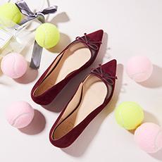 【预售】Heart On 蝴蝶结麂皮平底鞋 预计9月15日发货