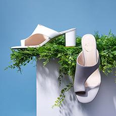 【预售】PEACHY 露趾中粗跟夹脚女士凉鞋 预计6月10日发货