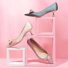 Evelyn 小S联名款蝴蝶结女士高跟鞋