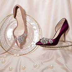 Penelope 林志玲同款时尚缎面高跟女士单鞋