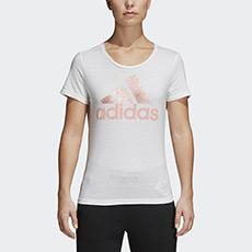 运动型格 FOIL TEXT BOS 女子 短袖T恤 CV4562