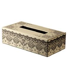 华丽黑蕾丝面纸盒