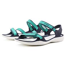 激浪织带运动休闲平底女士凉鞋204804