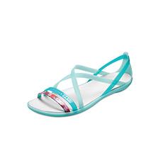 伊莎贝拉花卉束带女士平底凉鞋205150