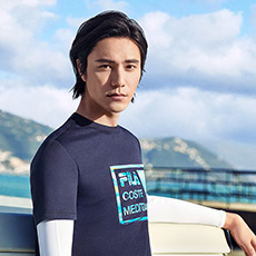 陈坤同款时尚圆领休闲舒适男士T恤上衣F11M828155F