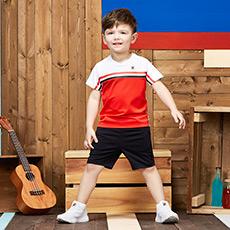 男小童短袖T恤裤子套装K11B831126