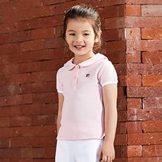 娃娃领T恤时尚百搭女童上衣K11G822184