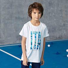 男童LOGO印花设计纯棉透气短袖T恤K12B822118