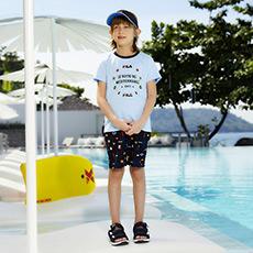 时尚印花舒适透气运动男童五分裤K12B822809