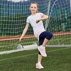 女童裤裙7分裤弹力运动裤透气网球裤裙K12G823630