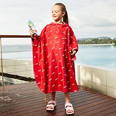 男女儿童中大童户外防水雨衣K12G823707