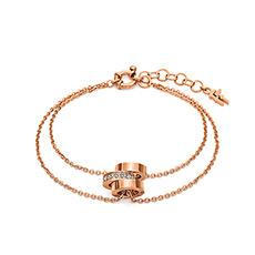 轻奢时尚玫瑰金圆环女士手链