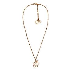 轻奢时尚玫瑰金珍珠项链