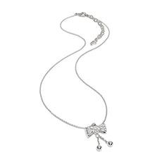 轻奢水晶蝴蝶结女士项链锁骨链