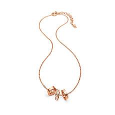 轻奢时尚玫瑰金锁骨链