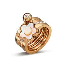 轻奢时尚珍珠贝母戒指
