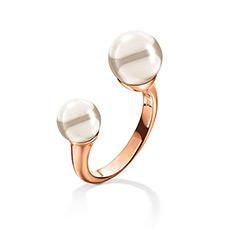 轻奢时尚甜美珍珠女士戒指
