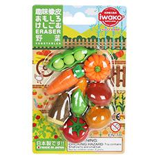 纸卡套装 儿童趣味橡皮 蔬菜