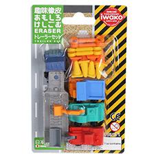 纸卡套装 儿童趣味橡皮 工程车