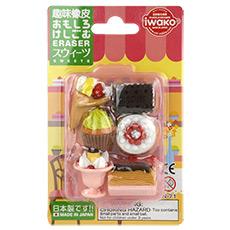 纸卡套装 儿童趣味橡皮 饼干甜品