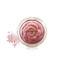 矿物质纯安玫瑰花纹胭脂粉