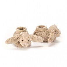 浅棕色害羞兔靴