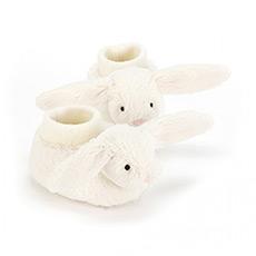 奶白色害羞兔棉靴