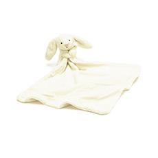 奶白色害羞兔安抚巾