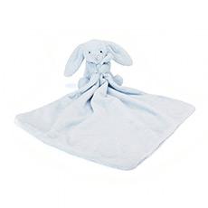 蓝色害羞兔安抚巾