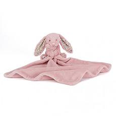 浅粉色害羞兔安抚巾