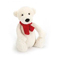 害羞北极熊毛绒玩具公仔