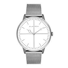 意大利设计时尚银盘精钢小盘女士石英指针手表