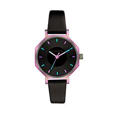 潮流简约八边形腕表凹陷表盘皮带女士手表