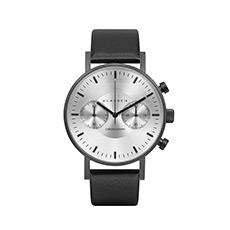 意大利简约石英皮带大盘计时码多功能男士手表