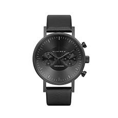 意大利设计大盘计时码时尚男士石英手表皮带简约腕表