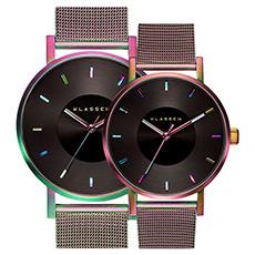 时尚潮流彩虹大表盘钢带石英腕表