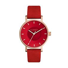 时尚潮流手表凹陷表盘麂皮带文艺多色可选女士腕表
