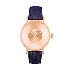 情侣款意大利时尚商务防水凹陷表盘石英腕表