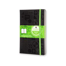 印象笔记黑色硬面横间智能笔记本