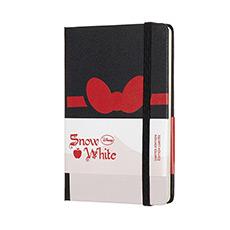 限量版白雪公主蝴蝶结横间硬面笔记本口袋型