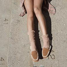 新款女士毛拖鞋乐福加州系列 休闲户外家居拖 1020027