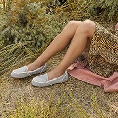 女士单鞋乐福加州系列休闲毛单鞋 1020029