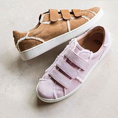 女士休闲单鞋步行系列魔术扣运动鞋 1091949