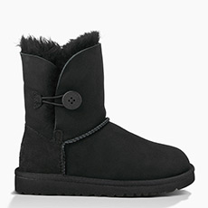大童经典雪地靴羊皮毛一体纽扣轻巧耐磨短靴 5991