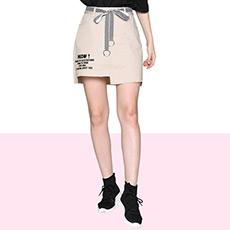 文艺净色修身显瘦A字裙半身裙D1T2C0151SK
