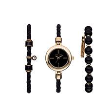 皮带时尚手链石英女士手表套装27660NYS