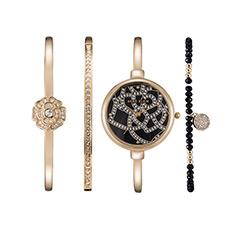 时尚潮流小表盘套装手表3080GBST